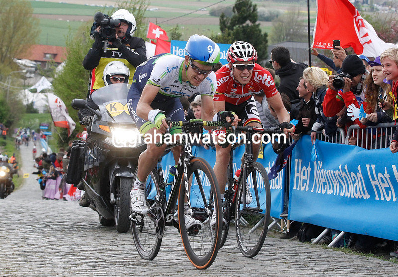 Daryl Impey in the 2014 Tour of Flanders