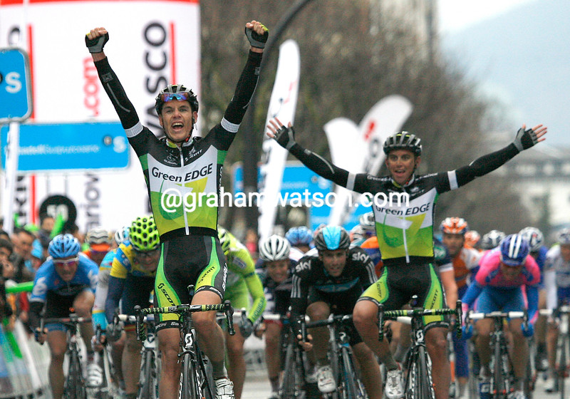 Daryl Impey wins stage two of the Tour of the Basque Country