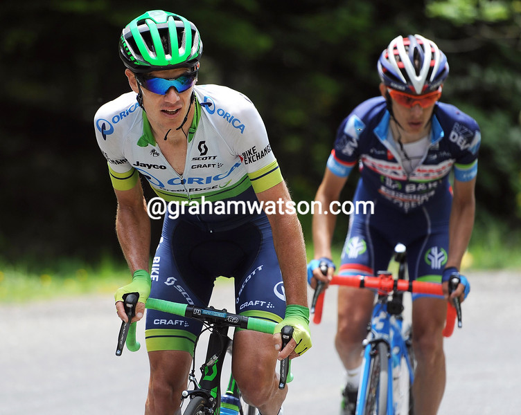 Daryl Impey in action during Stage 7 of the 2016 Dauphine Libere