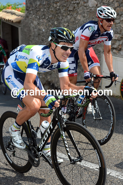 Daryl Impey on stage thirteen of the 2012 Tour de France