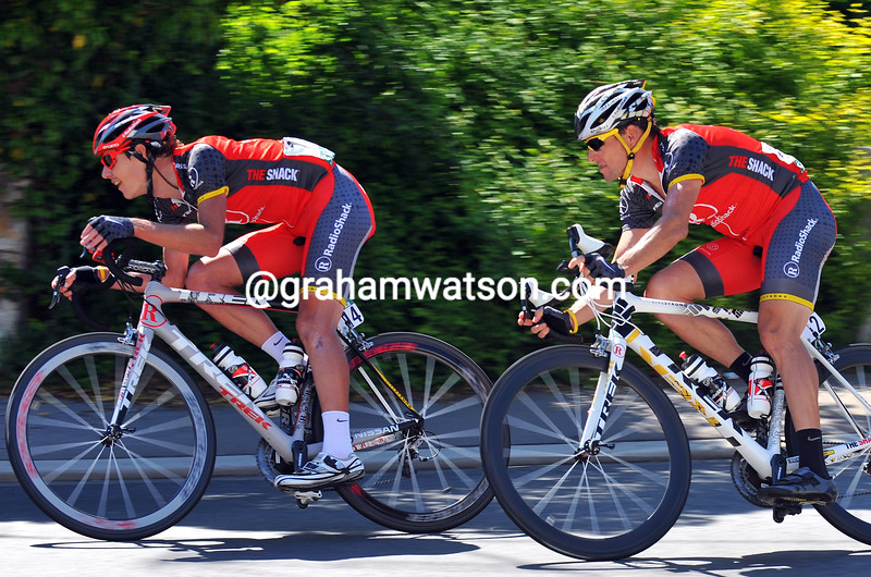 DARYL IMPEY AND LANCE ARMSTRONG ON STAGE TWO