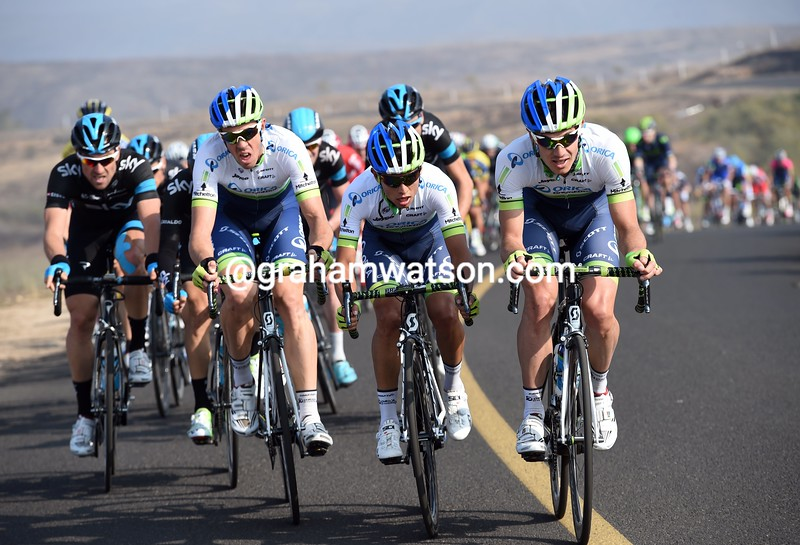 Orica-Green Edge attack on stage one of the 2014 Tour of Beijing