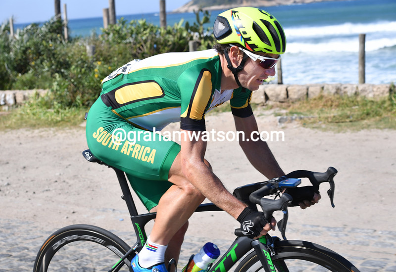 Daryl Impey in the 2016 Olympic Games