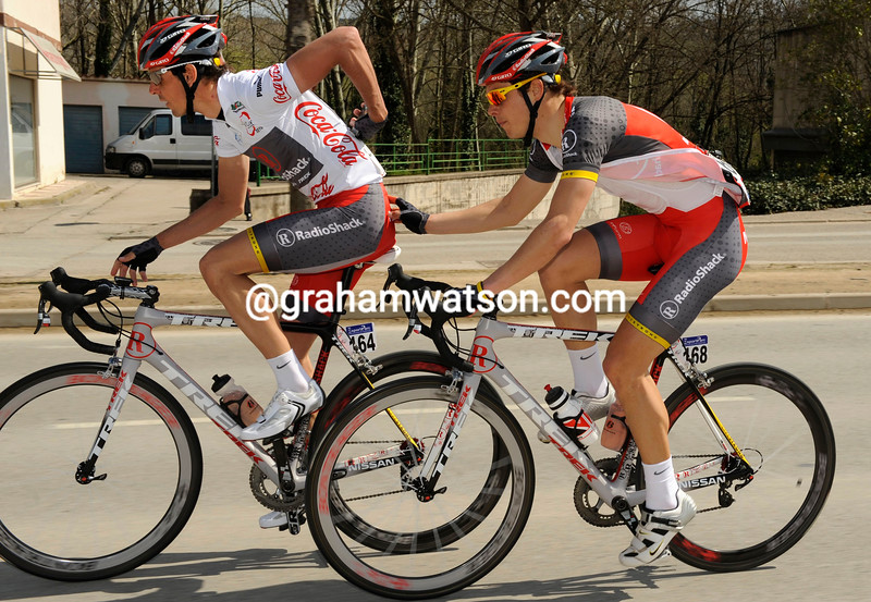 ANDREAS KLODEN AND DARYL IMPEY ON STAGE TWO IN THE TOUR OF CATALONIA