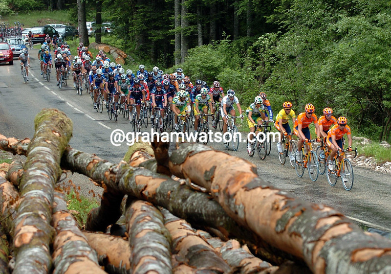 EUSKATEL LEADS ON A STAGE OF THE 2004 DAUPHINE-LIBERE