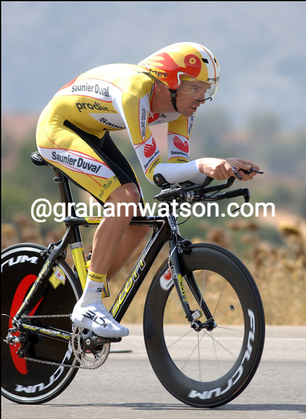 DAVID MILLAR ON HIS WINNING RIDE ON STAGE FOURTEEN OF THE TOUR OF SPAIN