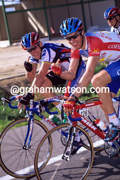 David Millar and Lance Armstrong in the 2000 Vuelta a Valenciana
