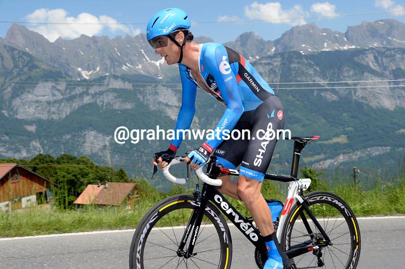 David Millar on stage nine of the 2013 Tour de Suisse