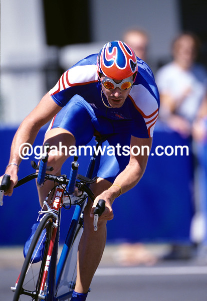 DAVID MILLAR RACES FOR GREAT BRITAIN IN THE 2000 OLYMPIC GAMES TT IN SYDNEY