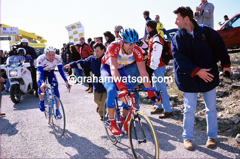 DAVID MILLAR FINISHES A MOUNTAIN STAGE OF THE 1997 CRITERIUM INTERNATIONAL