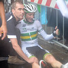 David Tanner has crashed in the 2013 mens road race World Championship