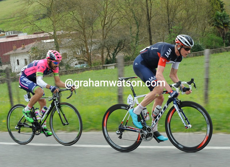 David Tanner on stage four of the 2015 Tour of the Basque Country