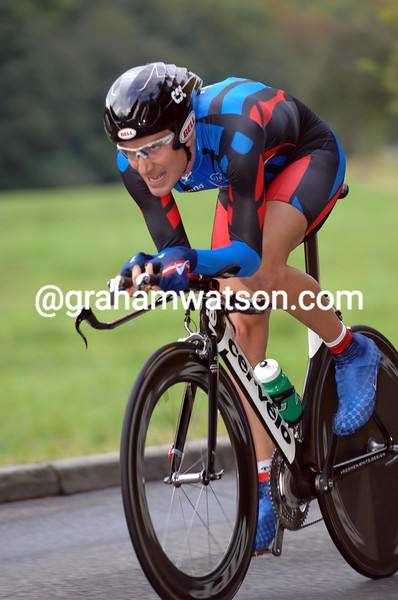 DAVID ZABRISKIE IN THE ELITE MEN'S TIME TRIAL AT THE 2007 WORLD CYCLING CHAMPIONSHIPS