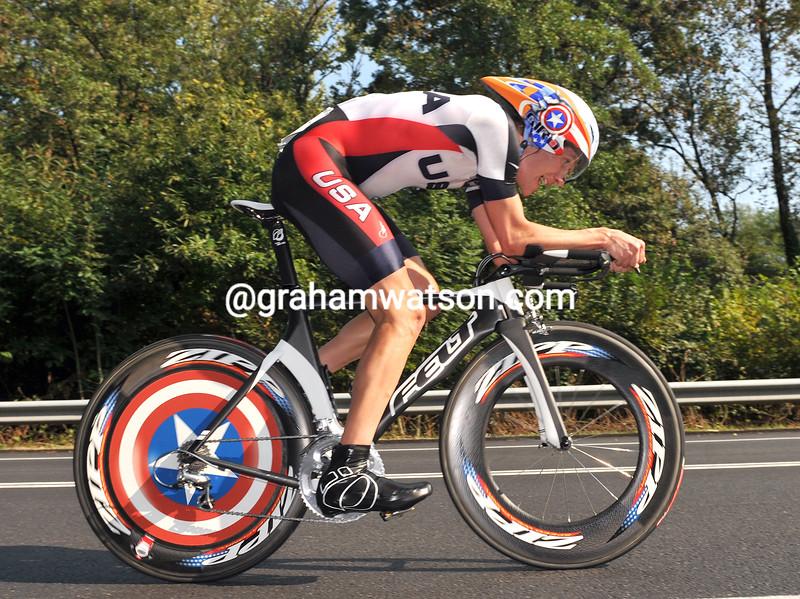 DAVID ZABRISKIE IN THE MENS 2008 WORLD ROAD TT CHAMPIONSHIPS