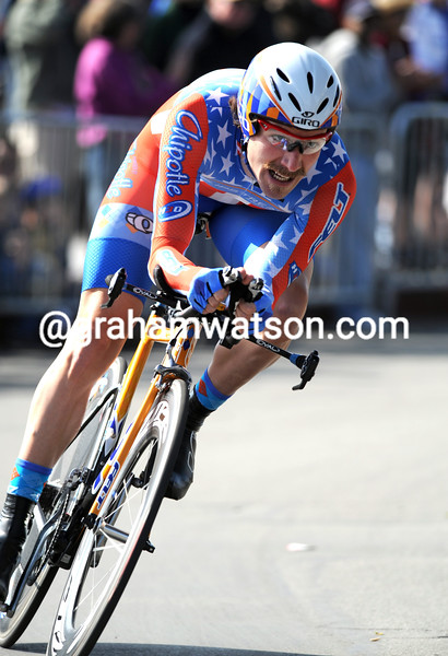 DAVID ZABRISKIE IN THE PROLOGUE OF THE 2008 TOUR OF CALIFORNIA