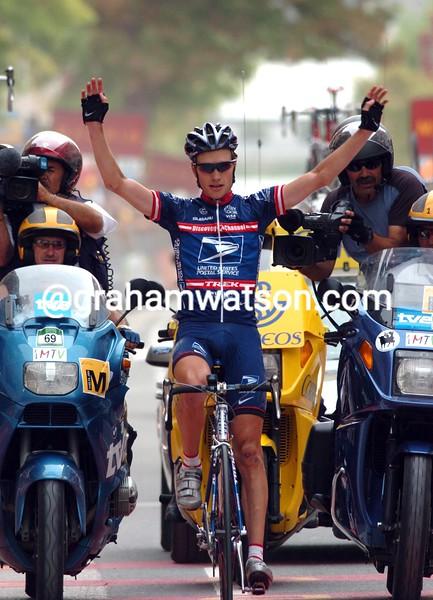 DAVID ZABRISKIE WINS A STAGE OF THE 2004 TOUR OF SPAIN