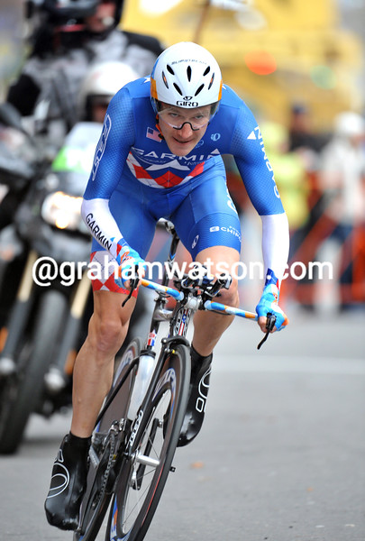 DAVID ZABRISKIE IN THE PROLOGUE OF THE 2009 TOUR OF CALIFORNIA