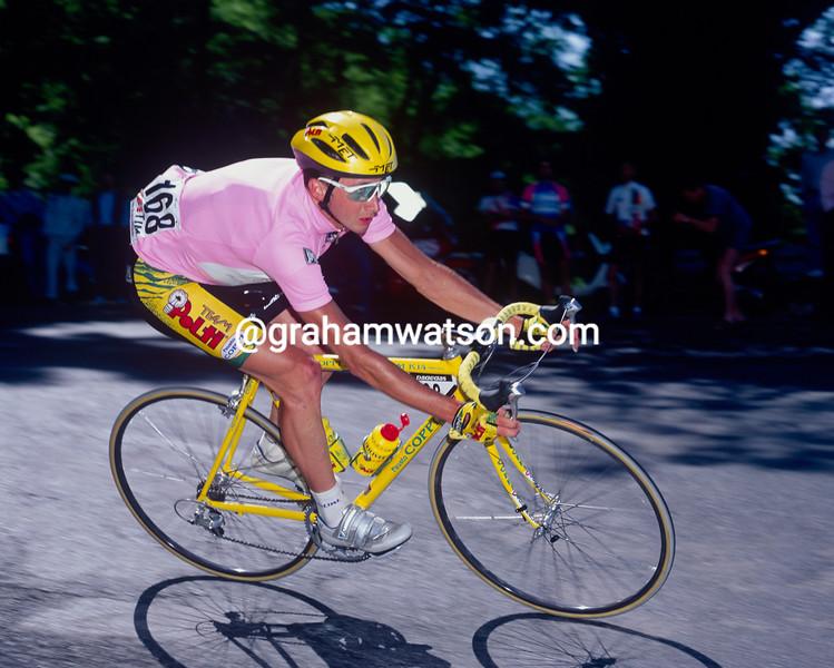 Davide Rebellin in the 1992 Giro d'Italia
