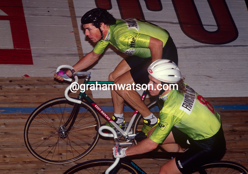 Dean Woods and Shaun Wallace in the 1992 Ghent 6-Day