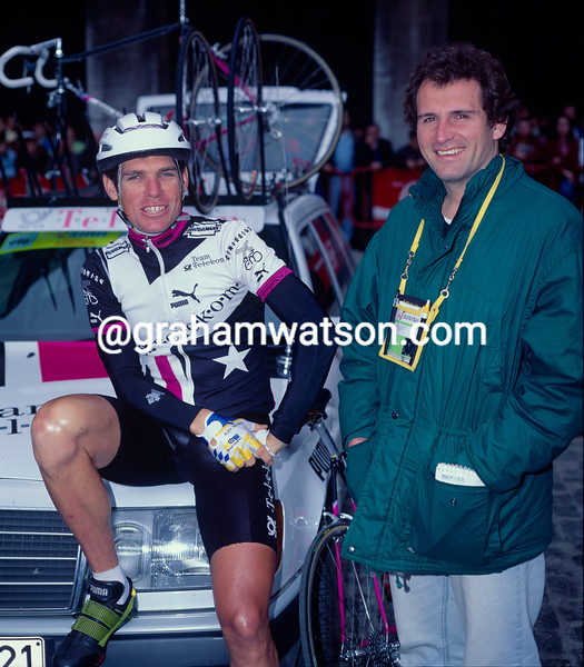 Dean Woods with Rupert Guinness in 1992