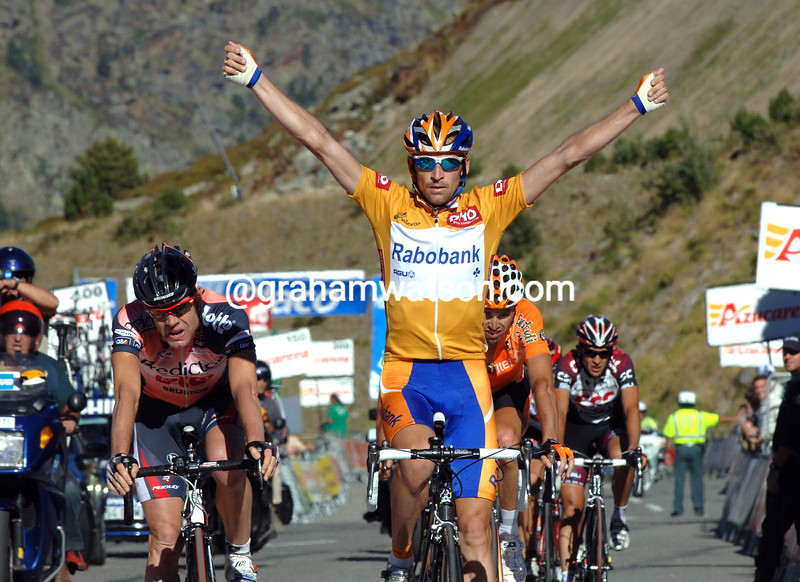 DENIS MENCHOV WINS STAGE TEN OF THE 2007 TOUR OF SPAIN