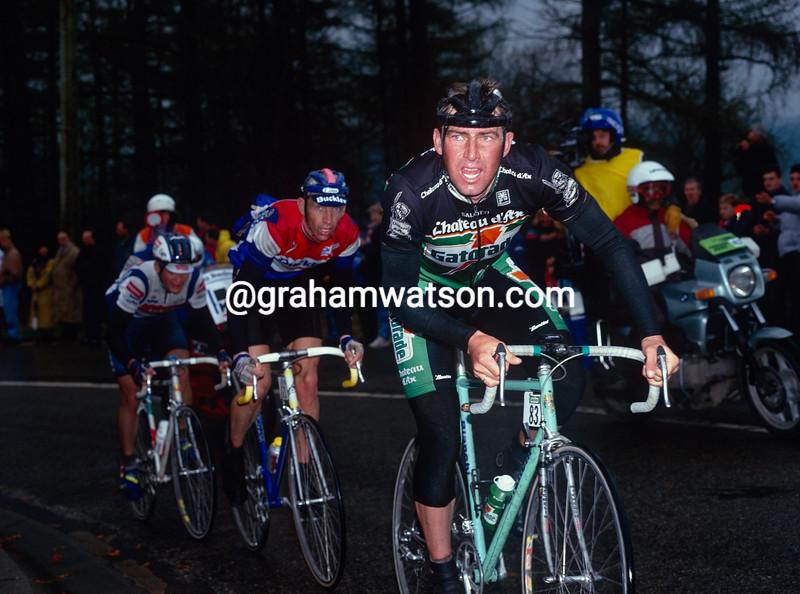 Dirk DeWolf in the 1992 Liege-Bastogne-Liege