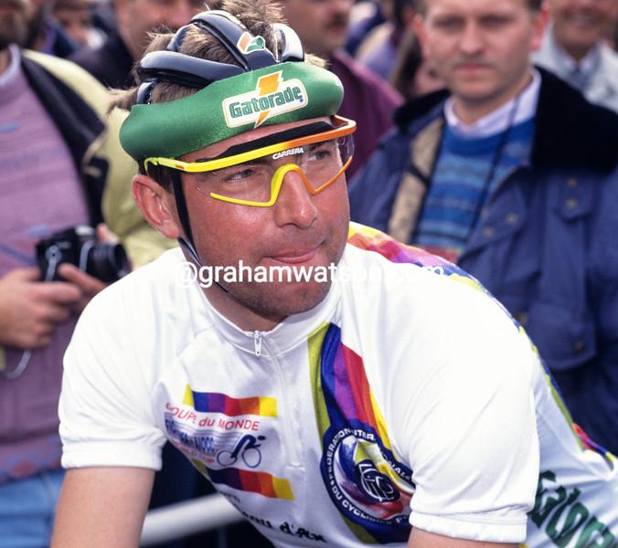Dirk de Wolf in the 1992 Amstel Gold Race
