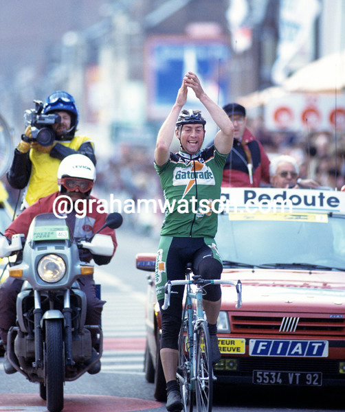 Dirk de Wolf wins the 1992 Liege-Bastogne-Liege
