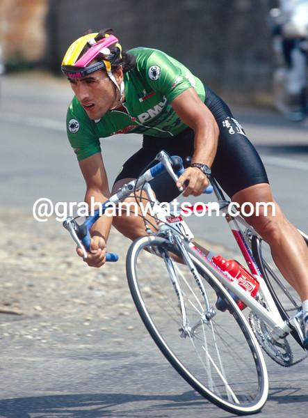 Djadmolodine Abdujaparov wins a stage of the 1992 Tour de France