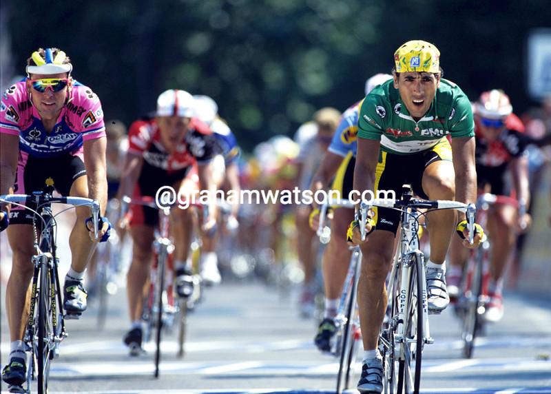 Djadmolodine Abdujaparov wins a stage of the 1996 Tour de France