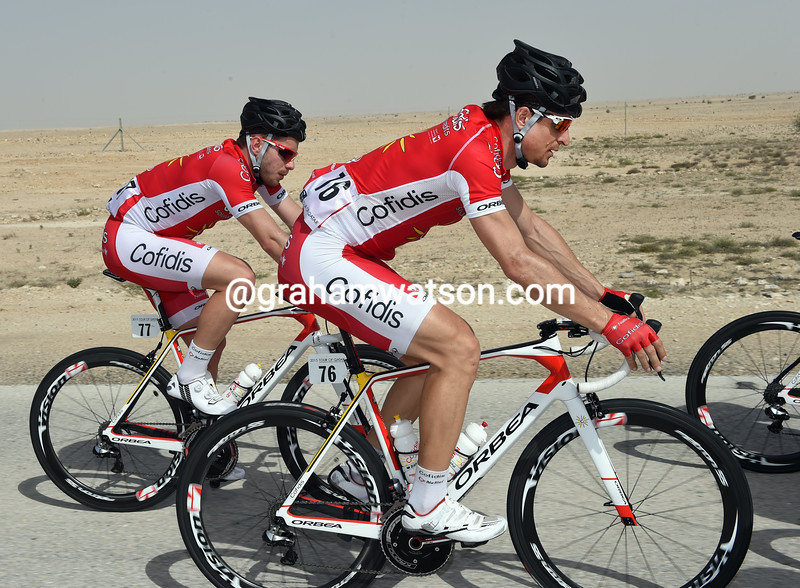 Dominique Rollin on stage four of the 2015 Tour of Qatar