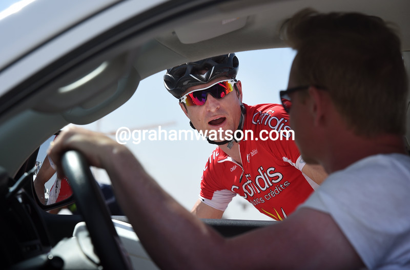 Dominique Rollin discusses a riders strike on stage five of the 2015 Tour of Oman