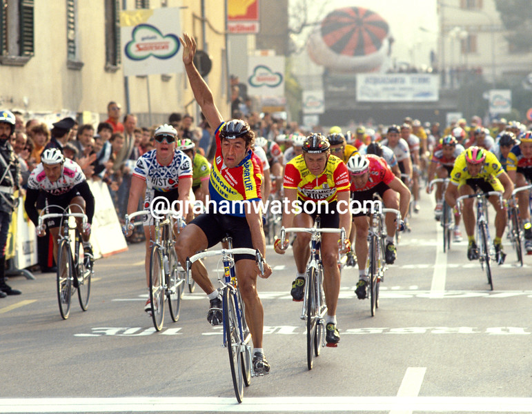 Eddy Planckaert in the 1990 Tirreno-Adriatico