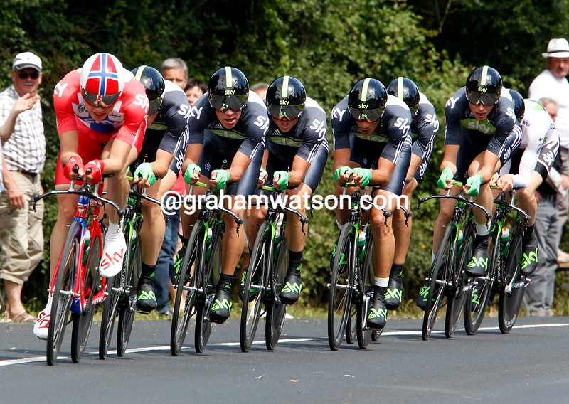 EDVALD BOASSON HAGEN LEADS TEAM SKY ON STAGE TWO OF THE 2011 TOUR DE FRANCE