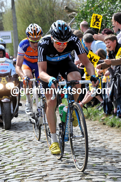 EDVALD BOASSON HAGEN IN THE 2011 TOUR OF FLANDERS