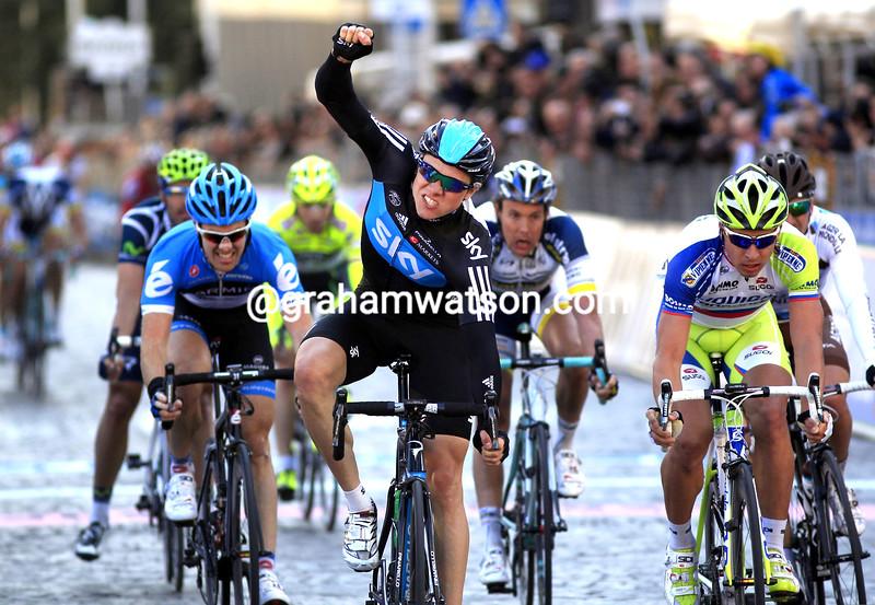 Edvald Boasson Hagen wins Stage 3 of the 2012 Tirreno-Adriatico