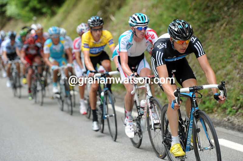 EDVALD BOASSON HAGEN PACES BRADLEY WIGGINS ON STAGE SIX OF THE 2011 DAUPHINE-LIBERE