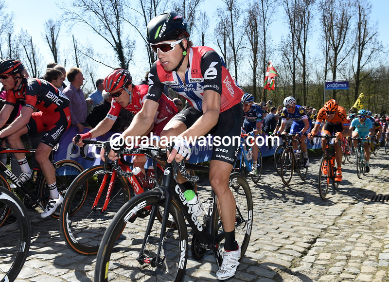 Edvald Boasson-Hagen in the 2016 Tour of Flanders