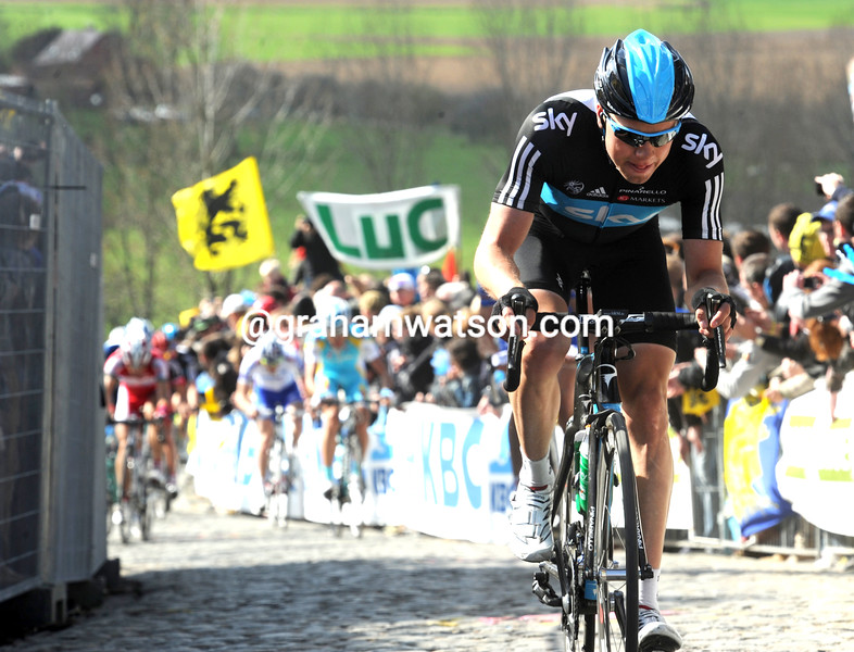 Edvald Boasson Hagen in the 2012 Tour of Flanders