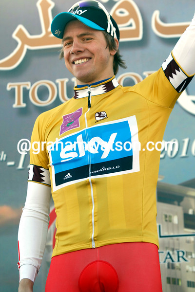 BOASSON HAGEN AFTER WINNING STAGE ONE OF THE 2010 TOUR OF QATAR