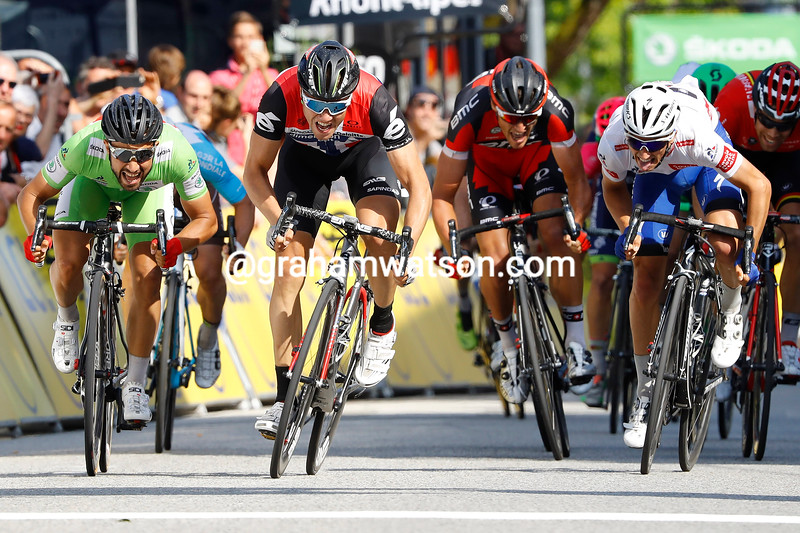 Edvald Boasson-Hagen wins stage four of the 2016 Dauphine-Libere