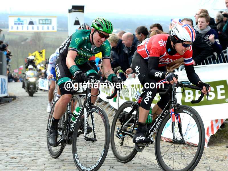 Edvald Boasson Hagen in the 2013 Tour of Flanders