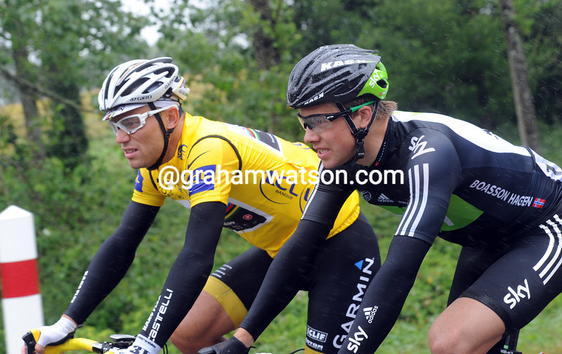 THOR HUSHOVD AND EDVALD BOASSON HAGEN ON STAGE FOUR OF THE 2011 TOUR DE FRANCE