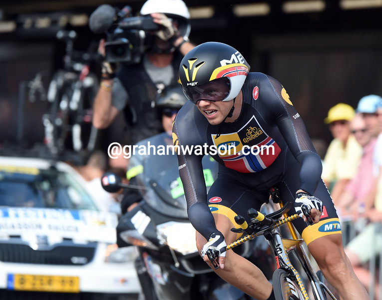 Edvald Boasson-Hagen on stage one of the 2015 Tour de France