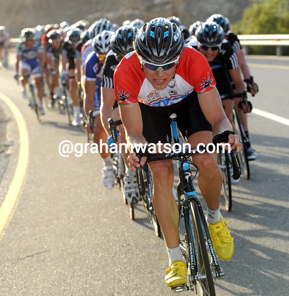 Edvald Boasson-Hagen chases an attack in the 2010 Tour of Oman