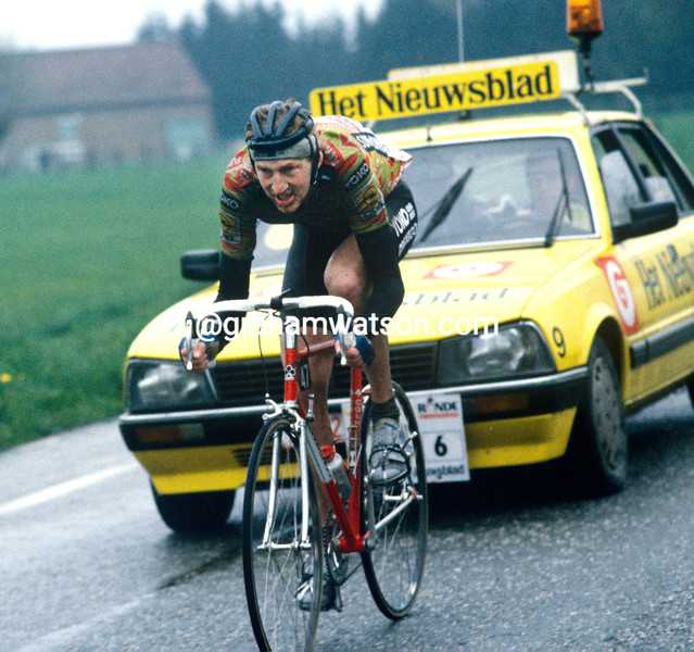 Edwig Van Hooydonck in the 1989 Tour of Flanders