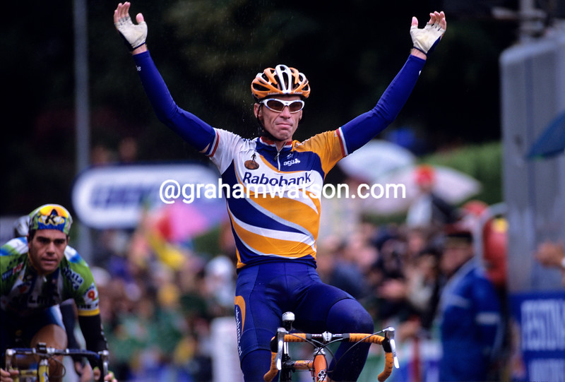 Eric Dekker wins a stage of the 2001 Tour de France