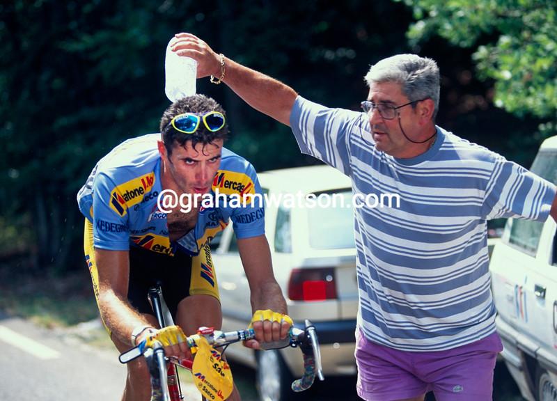 Eros Poli climbs the Mont Ventoux in the 1994 Tour de France