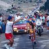 Eros Poli climbs Mont Ventoux on a stage of the 1994 Tour de France