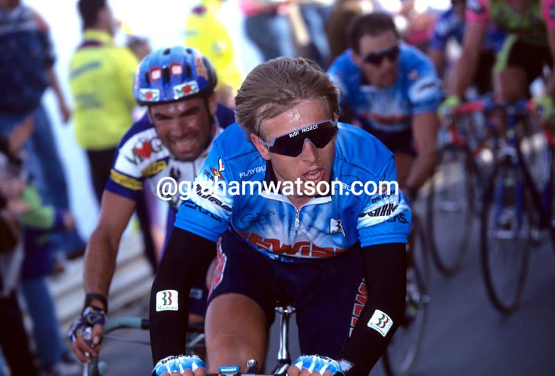 Evgeni Berzin in the 1994 Milan-San Remo